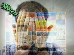 Publicidad digital estridente o invasiva.